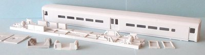 HO Scale - Comet III center-door commuter coach body kit. (MNCR/SEPTA non-toilet version.)