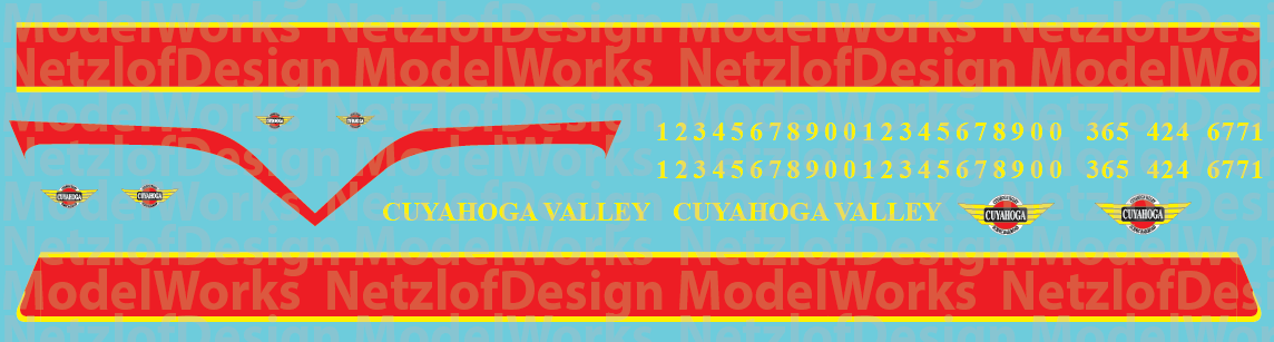 HO Scale - Cuyahoga Valley Scenic Locomotive Decals