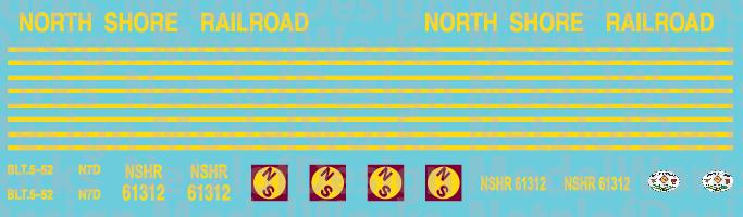 HO Scale - North Shore Railroad (NSHR) Caboose Decals