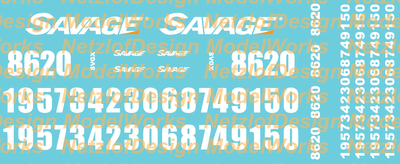Savage SVGX Locomotive Decal Set