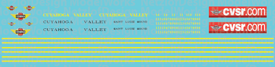 Cuyahoga Valley Scenic Passenger Car Decal Set