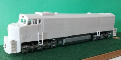 HO Scale GE U30CG Locomotive Shell