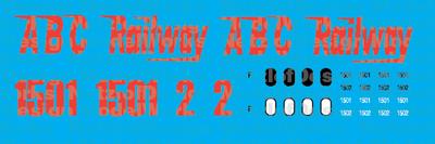 ABC Railway Switchers (1994+) Decal Set