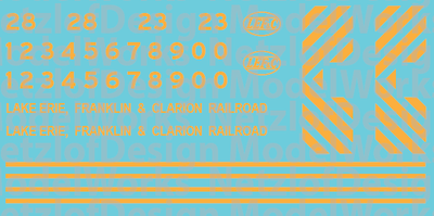 Lake Erie, Franklin & Clarion Switcher Decals - Faded Yellow (LEF)