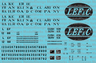 Lake Erie, Franklin & Clarion Box Car Decals