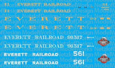 Everett Railroad Excursion Service Decal Set