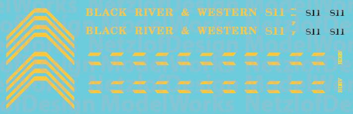 Black River & Western GP9 #811 Decal Set