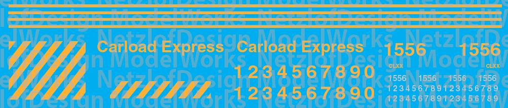 Carload Express Switchers Decal Set (CLXX)