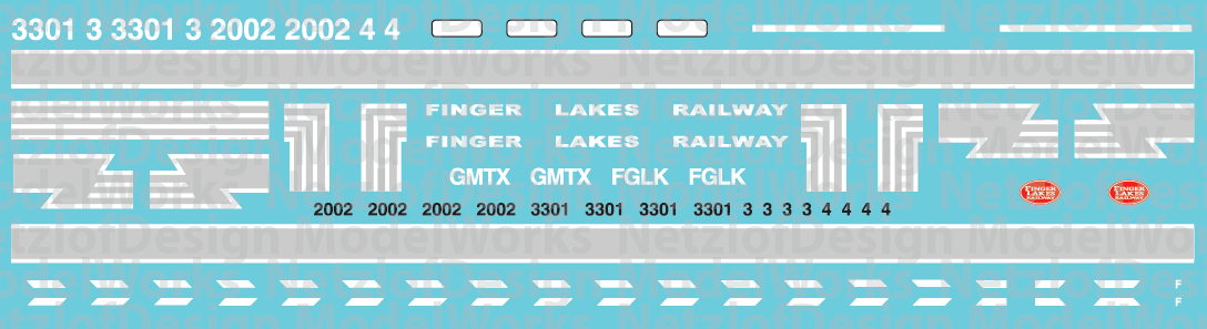 Finger Lakes Railway SD and GP38s Locomotive Decal Set
