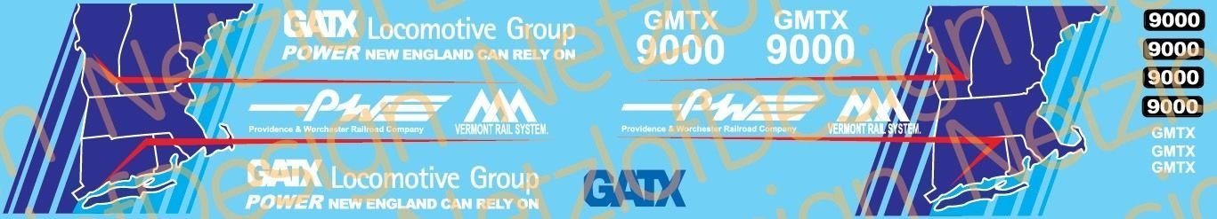 Providence and Worcester/VRR GMTX9000 SD60 Decals