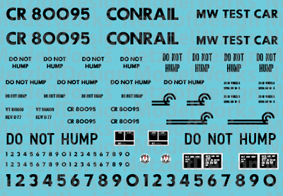 Conrail Scale Test Car Decal Set