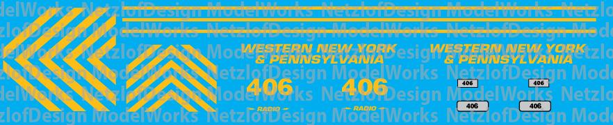 Western New York & Penna RS3u - #406 Decal Set (WNYP)