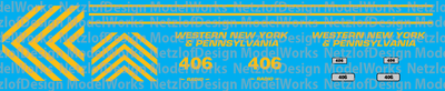Western New York & Pennsylvania RS3u - #406 Decal Set
