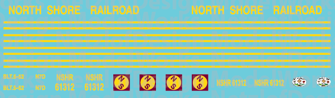 North Shore Railroad (NSHR) Caboose Decals