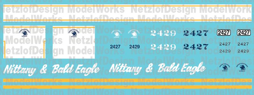 Nittany & Bald Eagle CF7s Decal Set (NBER)