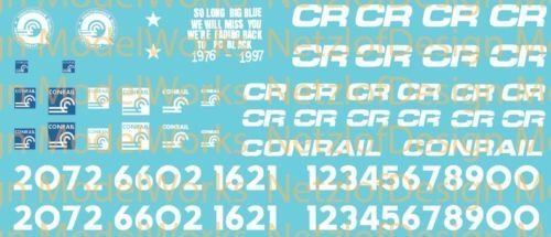 Conrail Paint Out Decal Set