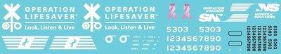 Norfolk Southern Operation Lifesaver Units Decal Set