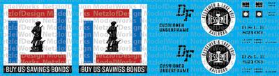 Bessemer & Lake Erie US Savings Bond Box Car Decals (BLE)