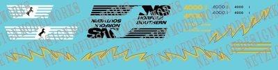 Norfolk Southern AC44C6M Decal Set #4000/4001 (Blue/Yellow)