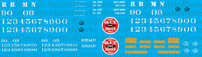 Reading Northern QIT Hopper Car Decal Set