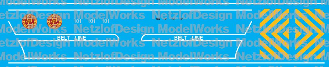 Norfolk & Portsmouth Belt Line SW1200 #101 Anniversary (NPBL) Decal Set
