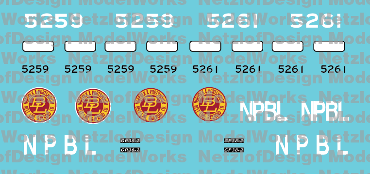 Norfolk & Portsmouth Belt Line Patch Out Set
