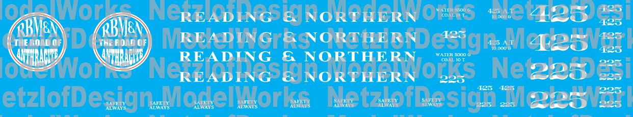 Reading Northern Steam Locomotives (2015+ Paint) (RBMN)