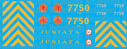 Juniata Terminal Railroad GP38 Decal Set