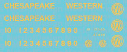 Chesapeake Western Railway T6 Decal Set
