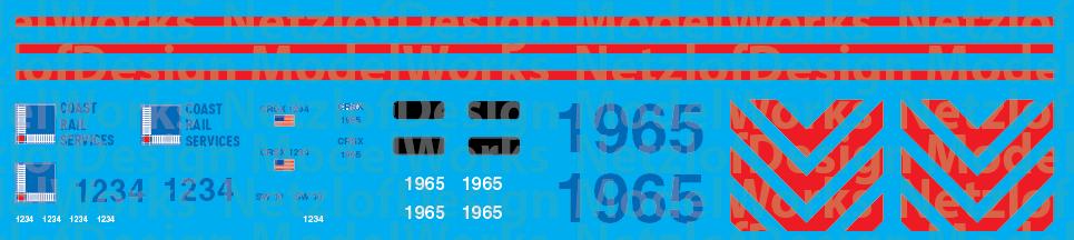 Coast Rail Services (CRSX) Locomotive Decals