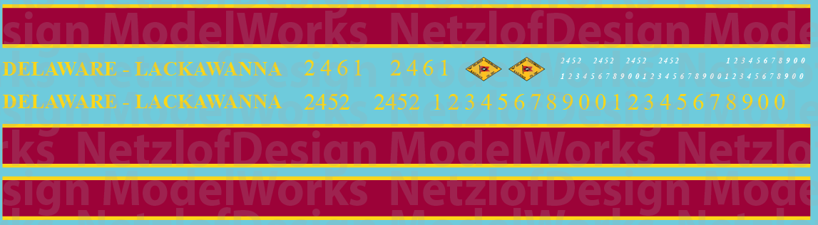 Delaware-Lackawanna C424/5 Locomotive Decals