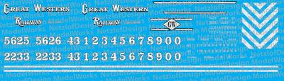 Great Western Railway (US 2000+) Locomotive Decals