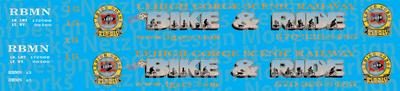 Lehigh Gorge Scenic Railroad Bike & Ride Open Car Decal Set (RBMN)
