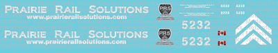 Prairie Rail Solutions SD40 #5232 Decal Set