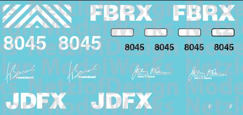 HLCX/JFDX/FBRX CEO Honor Unit #8045 Decal Set