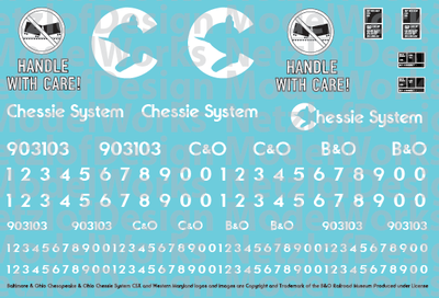 N Scale - Chessie System Handle with Care Caboose Decals