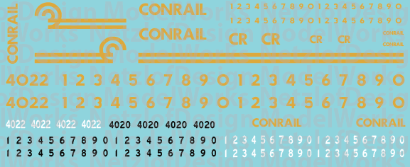 Conrail OCS/Business Train Decal Set NW-P001