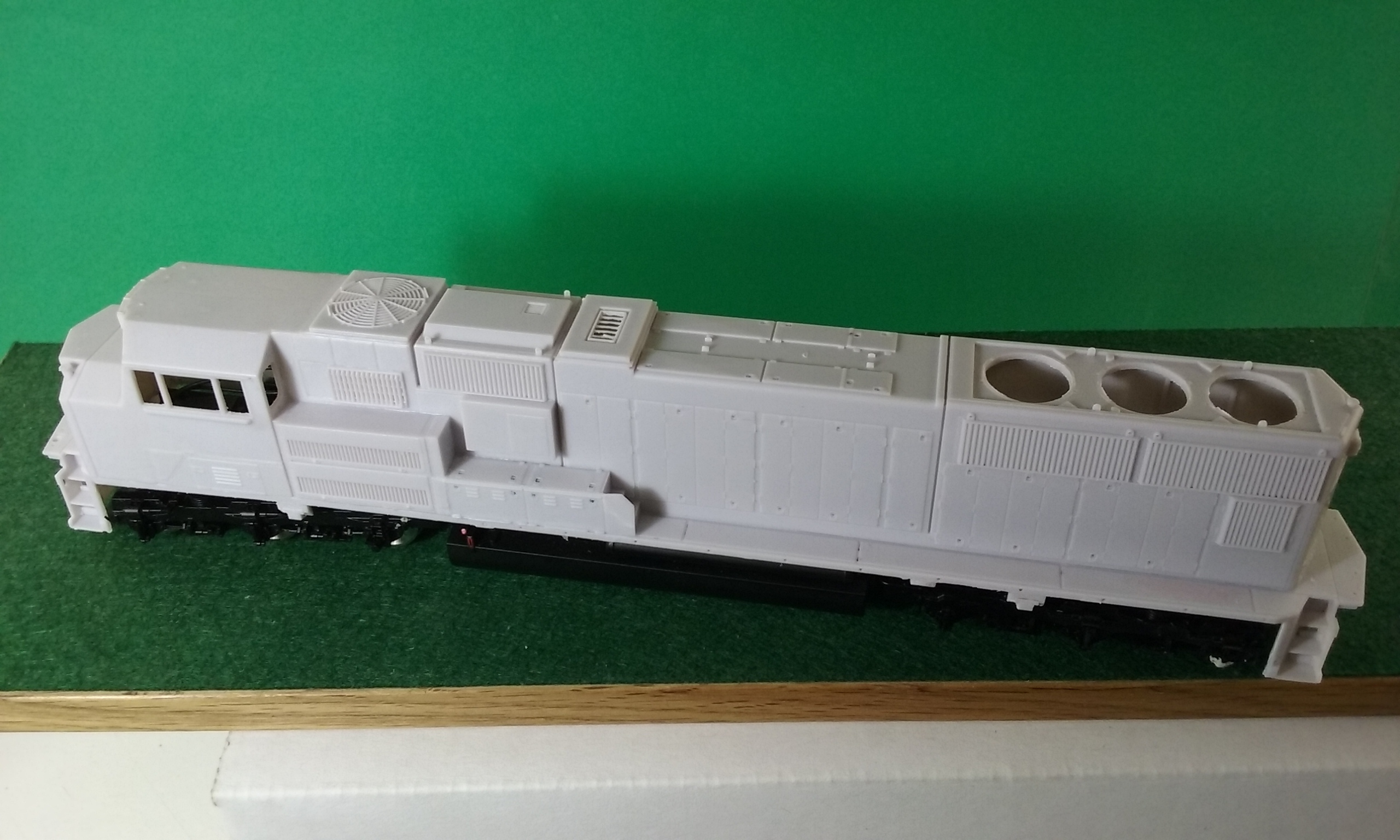 HO Scale ATSF, BN U23 C Engine Shell, HO Scale Trains, by Pacific Northwest Resin