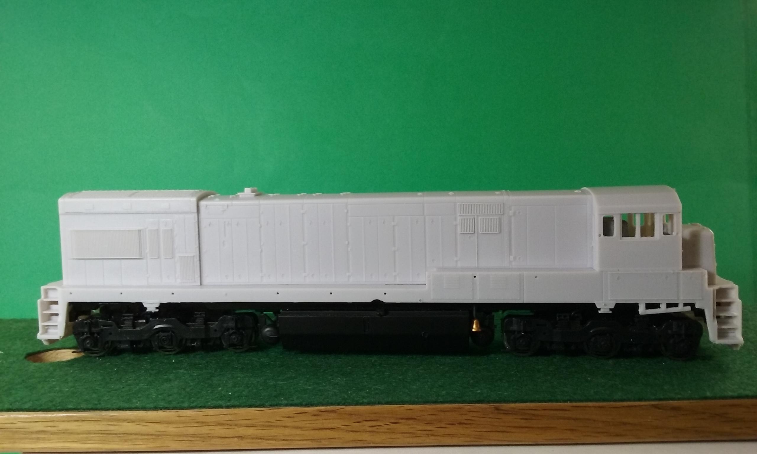 HO Scale ATSF, BN U23 C Engine Shell, HO Scale Trains, by Pacific Northwest Resin HO229