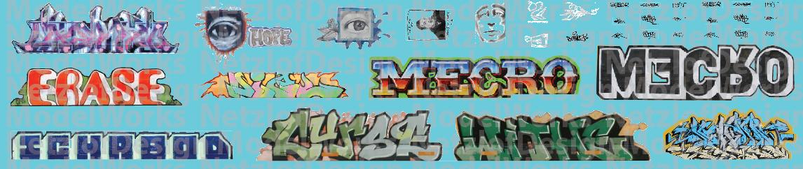 Modern Large Graffiti Set 2 ND-891