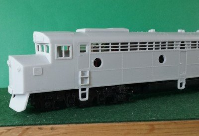 HO Scale - CNW E-8 Crandall Cab Locomotive Shell, by Pacific Northwest Resin