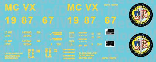 CSX/MCVX Police Boxcar ND-952