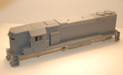 GP38-2 High Hood w/o DB Engine Shell, HO Scale Trains, by Puttman Locomotive Works
