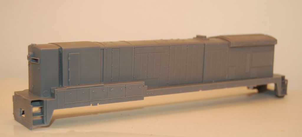 N Scale Trains, B30-7A, B Unit Locomotive Shell, by CMR Products