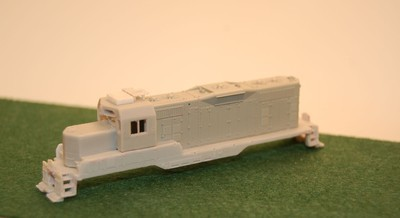 N Scale Trains, GP7 U Topeka Cab w/ DB Locomotive Shell, by CMR Products