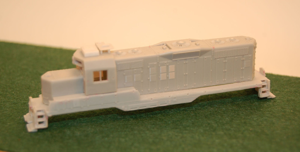 N Scale Trains, GP9 U Topeka Cab w/ DB Locomotive Shell, by CMR Products