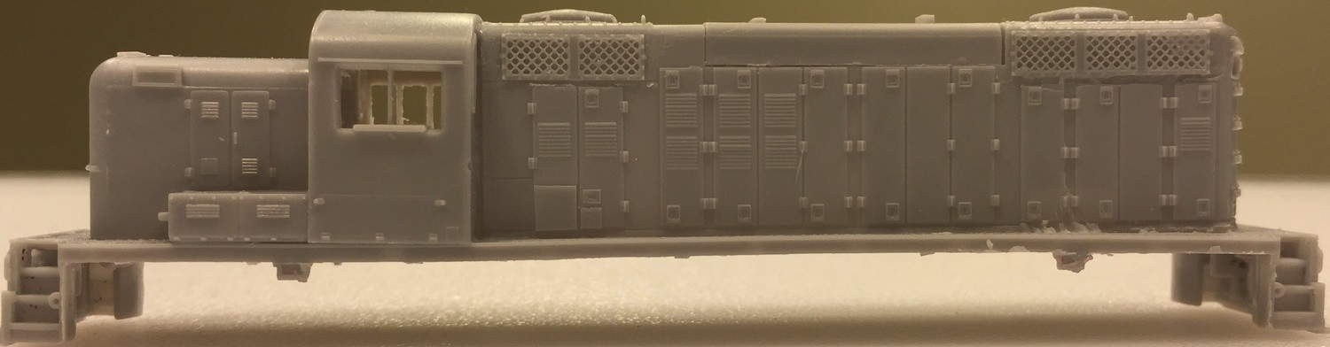 N Scale trains, RS2M Frisco / SLSF Locomotive Shell, by CMR Products