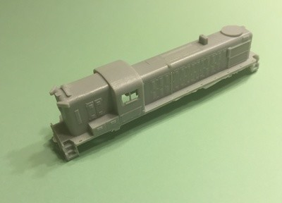 N Scale Trains, RS3 Hammerhead Locomotive Shell, by CMR Products