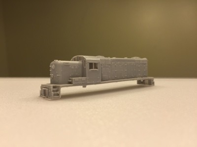 N Scale Trains, RS3M Rock Island (GP9 Phase 3) Locomotive Shell, by CMR Products