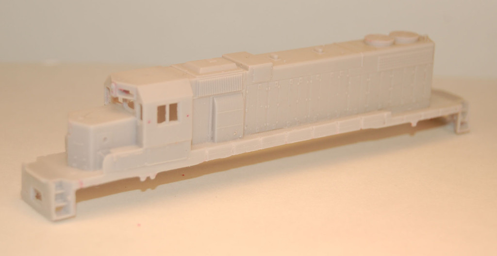 N Scale Trains, SD38-2 w/o DB Locomotive Shell, by CMR Products